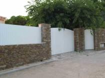 clôture alu, bois, pvc, résine assortie au portail à Nice