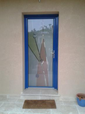 porte d'entrée en verre anti-effraction à Nice PROFERM 06