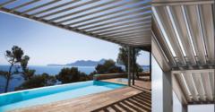 Pergola bioclimatique aluminium villa Nice PROFERM06
